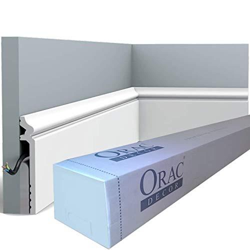Orac Decor - Carton complet 32m SX186 Plinthe Orac Decor - 13,8x2,2x200cm (h x p x L) - surplinthe déco polymère