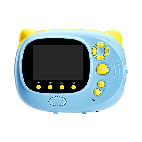 OMVOVSO La cámara para niños, la Pantalla de Pulgada de Alta resolución con el Cable USB de cordón, el micrófono Incorporado admite Varios Idiomas de Material ABS,Azul