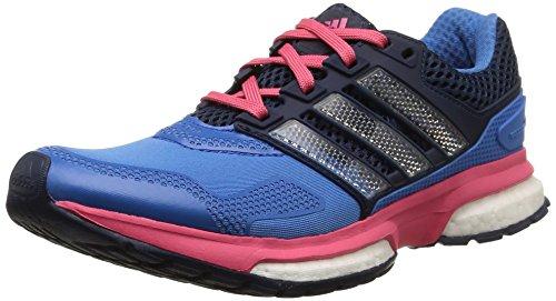 Bester der welt Adidas Response Boost 2 Techfit Damenschuhe, Blau-Blau (Super Blue F15 / University…