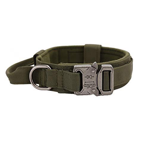 Talentuoso collare tattico regolabile per cani militare nylon resistente fibbia in metallo con manico di controllo per addestramento cani