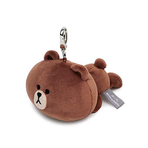 Character Soft Stuffed Animal Keyring Handbag Accessory for Women Parent LINE FRIENDS Plush Keychain