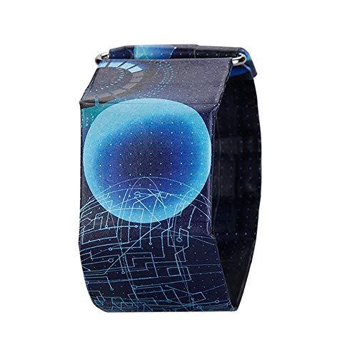ZSLLO Marca Impermeable Reloj Digital Exquisito Cáscara de Papel Reloj Hebilla Plegable...