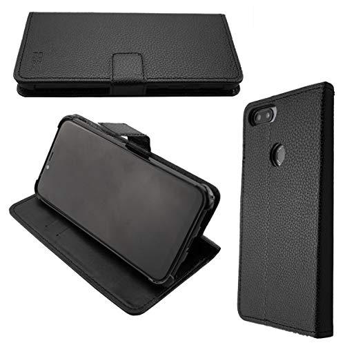 caseroxx Handy Hülle Tasche kompatibel mit Gigaset GS195 Bookstyle-Hülle Wallet Hülle in schwarz