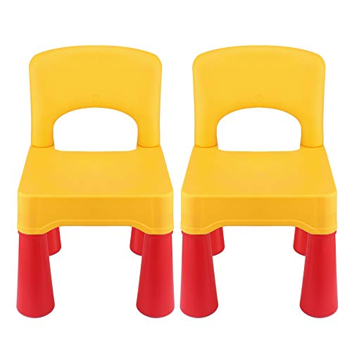 Kids Chair, Toddler Chair, Toddler Chairs for Boys and Girls, Ergonomic Design, Eco-Friendly Durable Plastic, Indoor or Outdoor Use Kids Chairs for Boys and Girls (Lemon Yellow)