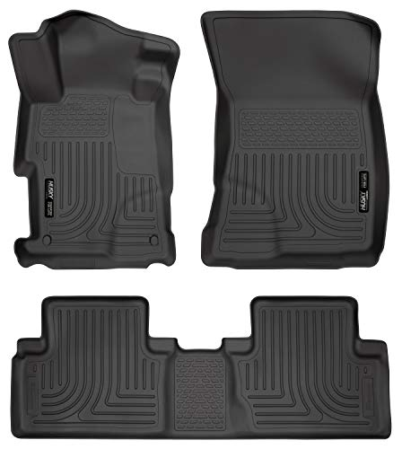 Husky Liners Custom Fit WeatherBeater Molded Front and Second Seat Floor Liner Set for Select Honda Civic Models (Black)