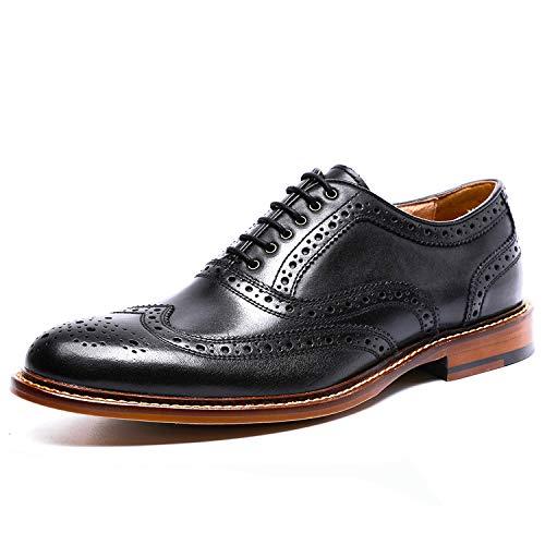 Desai Zapato Brogue con Cordones Oxford para Hombre Negro