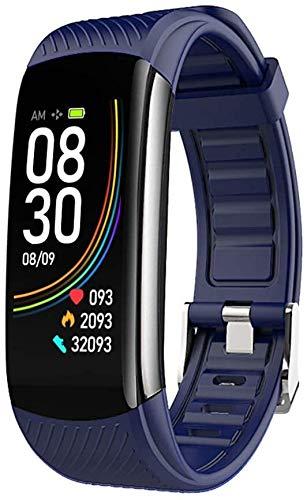 Tracker Fitness Rastreador de ejercicios, la presión arterial inteligente Control de las pulsaciones Muñequera, Soporte de llamada y mensaje recordatorio, IP67 a prueba de agua Rastreador de fitness d