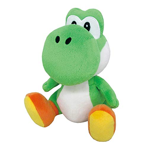 "Little Buddy Super Mario All Star Collection 1416 Yoshi Stuffed Plush, 8"",Multi-colored"
