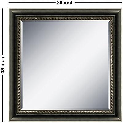 Elegant Arts & Frames 417773BK Square Decorative Mirror