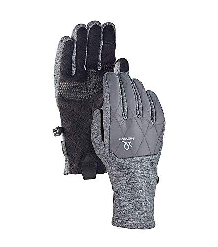 Head Women's Hybrid Glove, Cold Weather Running Gloves (Small, Grey)
