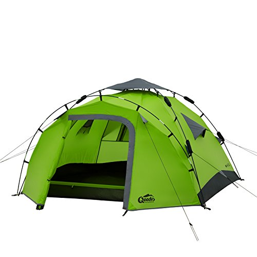 Qeedo Quick Pine 3 Man Dome Tent (Quick Up System) - green