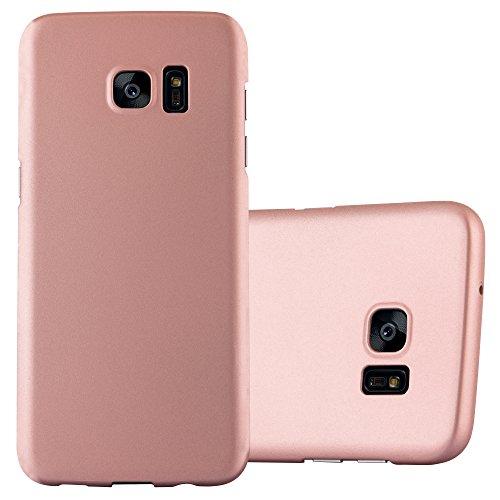 Cadorabo Funda para Samsung Galaxy S7 Edge en Metal Oro Rosa - Cubierta Protección de Plástico Duro Super Delgada e Inflexible con Antichoque - Case Cover Carcasa Protectora Ligera