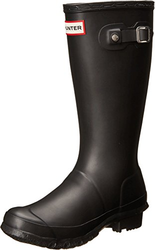 Hunter Original Wellies - Botas Unisex, para niños, color negro, talla 33