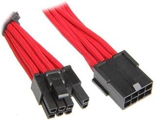 BitFenix 6+2-Pin PCIe Verlängerung 45cm - Sleeved Red/Black
