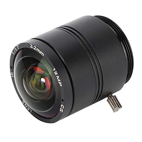 Tangxi 3,2 mm 12MP F1.2 HD CCTV-Objektiv, 3,2 mm 12MP F1.2 Professional CS Mount Sicherheitsüberwachungskamera Objektiv mit Fester Brennweite für CCTV Camera-Objektiv