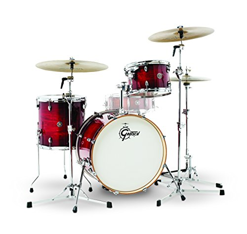 Gretsch Drums Gretsch CT1-J403-GCB Catalina Club 3 Piece Shell Pack 14x20 Bass, 8x12 Suspended, 14x14 Floor Tom Gloss Crimson Burst, inch