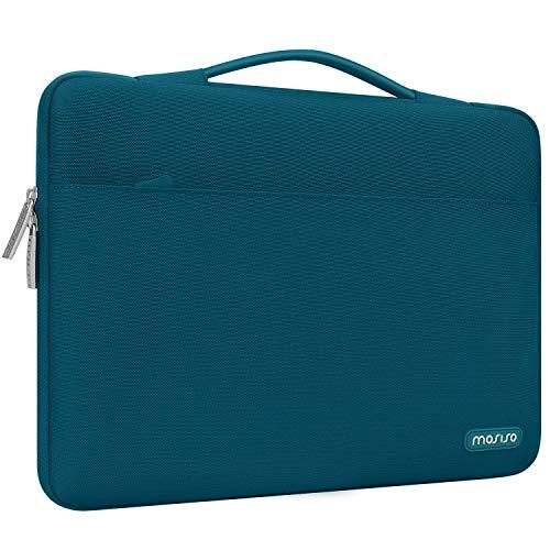 MOSISO Laptop Sleeve 360 Protettivo Borsa Compatibile con MacBook PRO 16 Pollici A2141, 15 15,4 15,6 Pollici dell HP Acer Samsung Sony Chromebook, Poliestere Borsa con Carrello Belt, Deep Teal