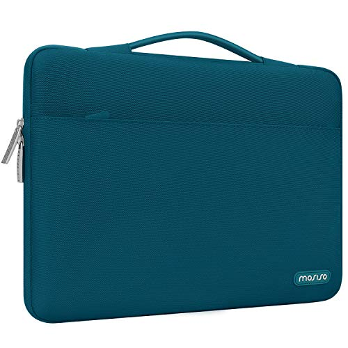 MOSISO Maletín Compatible con MacBook Pro 16/15-15,6 Pulgadas DELL Lenovo HP ASUS Acer Samsung Sony Chromebook,Funda Blanda Protectora 360 Multifuncional Bolso con Correa de Carro,Trullo Profundo