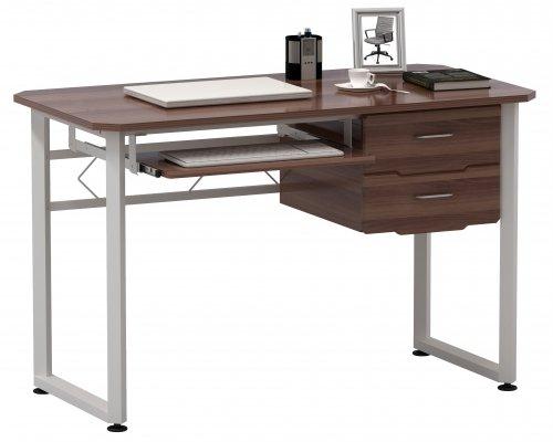 HJH Office 673621Workflow scrivania, Span Piastra con Rivestimento di Resina melamminica, Noce/Bianco