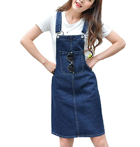 Damen Breite Loose Denim Jumpsuit Latzhose Breite Beine Denim Hosen Loose Jeans Jumpsuit Overalls