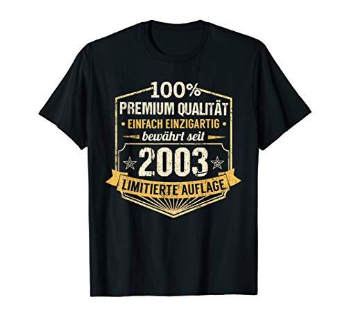 17 Jahre Geburtstag Junge Mädchen 2003 Mann Frau Geschenk T-Shirt