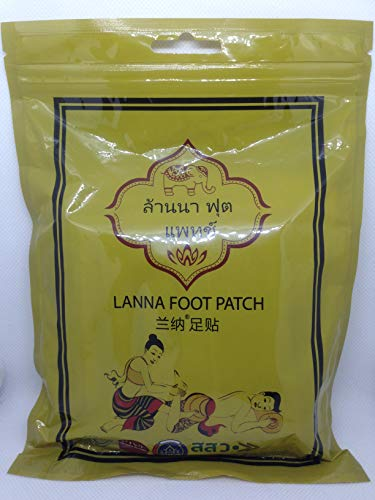 Lanna Foot Patch (Foot Pads) Nature's Best for Pain Relief, Effective Plant Based Foot Care | Convenient Packaging |10 Pack