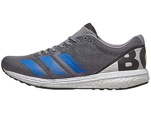 adidas Men's Adizero Boston 8 m Sneaker, Grey/Glory Blue/Grey one, 7.5 M US