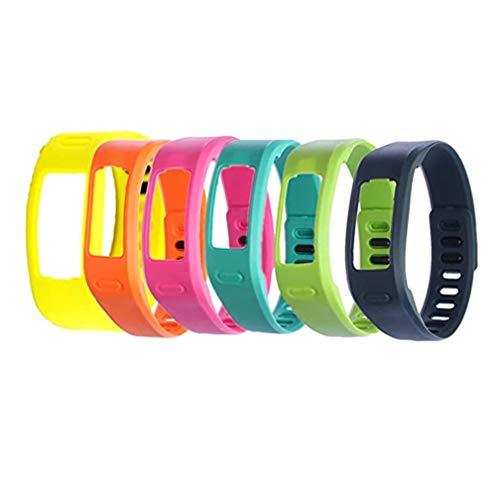 WEINISITE Silikon Ersatz Armband für Garmin Vivofit 1 (6 Stück, L)