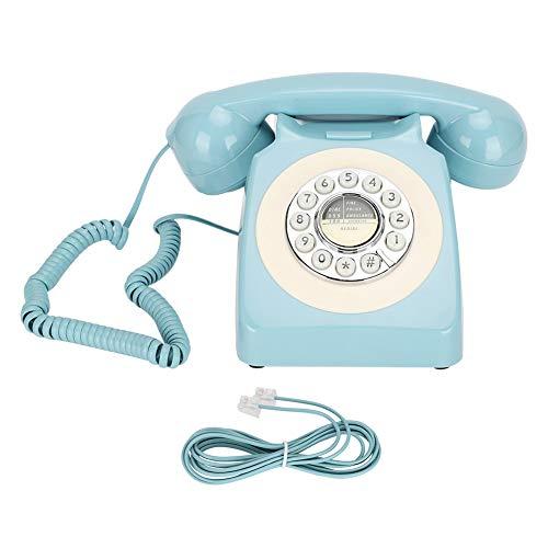 Teléfono retro, larga vida útil del teléfono fijo azul para el hogar para el albergue