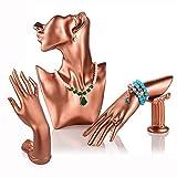 Soporte de exhibición de la joyería Resina Media cara Mujeres Maniquí...