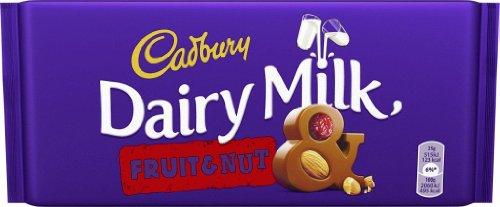 Cadbury Fruit & Nut Schokolade 2 x 200 g – cremige Milchschokolade mit Mandeln und getrockneten Trauben – leckere Süßigkeit mit vollmundigem Geschmack – Frucht & Nuss