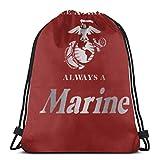 Yuanmeiju United States Marine Corps 3D Print Drawstring Backpack Rucksack Shoulder Bags Bolsa de Gimnasio For Adult 17'X14'