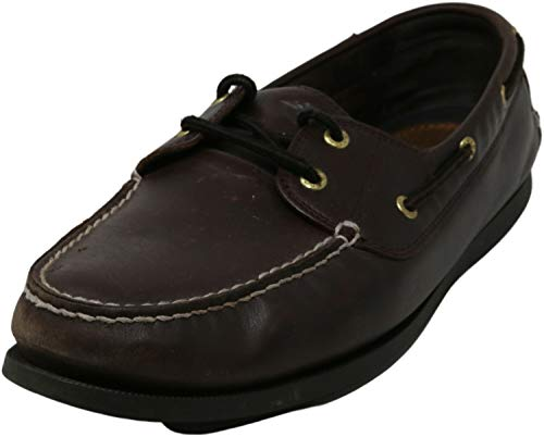 Dockers Men's Vargas Leather Handsewn Boat Shoe,Raisin, 10.5 M US
