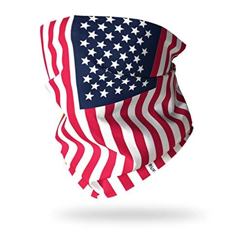 Ruffnek Couvre-chef cache-cou multifonctionnel avec drapeau des Etats-Unis / bannière étoilée pour homme femme et enfant