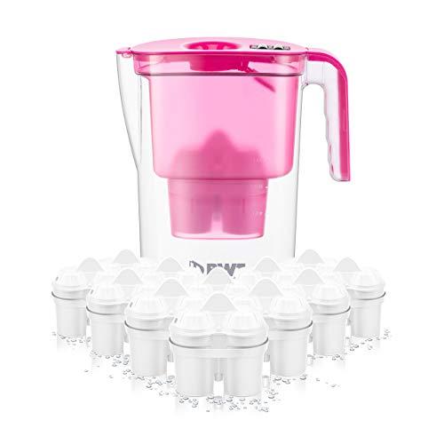 BWT Wasserfilter VIDA 2,6 l pink inkl. 12 Filterkartuschen Soft Filtered Water inkl. 1 Kartusche Magnesium Mineralized Water   Kalkschutz für Ihre Haushaltsgeräte   Jahresvorrat