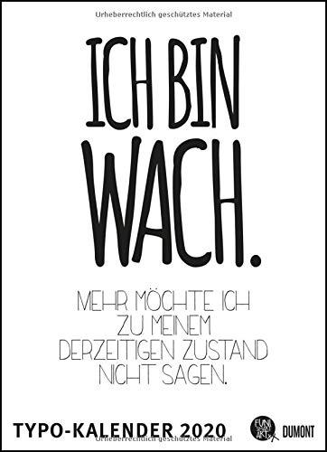 Sprüche-Kalender 2020 – Typo-Kalender von FUNI SMART ART – Poster-Format 49,5 x 68,5 cm