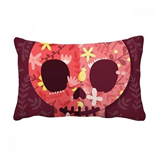DIYthinker Pink Skulls Almofada para decoração de casa com enchimento lombar Dia dos Mortos do México