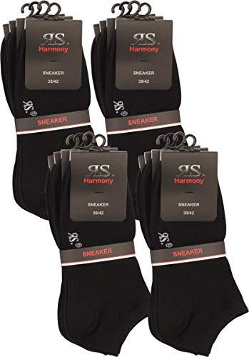 RS. Harmony | Sneaker-Socken | Klassischer Qualitäts Baumwollsocken | 16 Paar | schwarz | 35-38