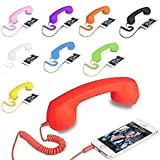 3Keys Mic Classic Coco Retro Phone Speaker 3.5mm Wired Cell Phone handsets Receiver
