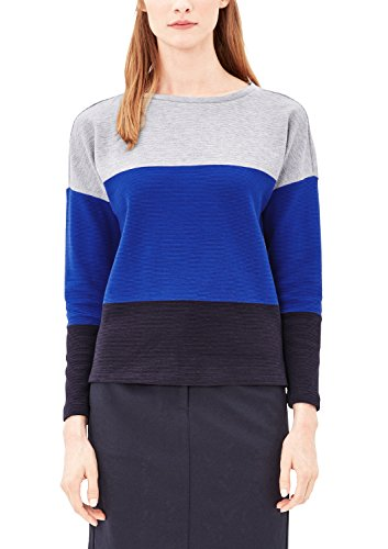 s.Oliver Damen 14709414361 Sweatshirt, Blau (Cobalt Blue Stripes 56G3), 36