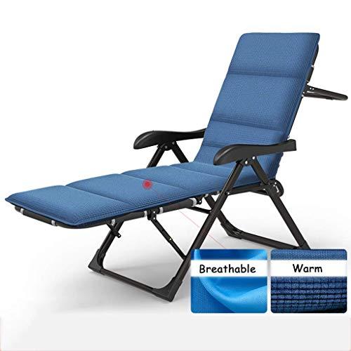 WYJW Liegen Faltbare Outdoor Entspannen Chaise Lounge Strandkorb Bett Camping Militär Kinderbett für Reise Basislager Wandern Bergsteigen (Farbe: Stuhl + Kissen a)