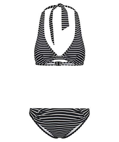 Hot Stuff Damen Bikini Underwire Neckholder Bikini B-Cup schwarz/Weiss (910) 40C