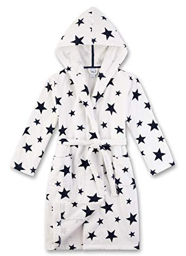 Sanetta Unisex Bademantel Sterne, weiß 244631(152)