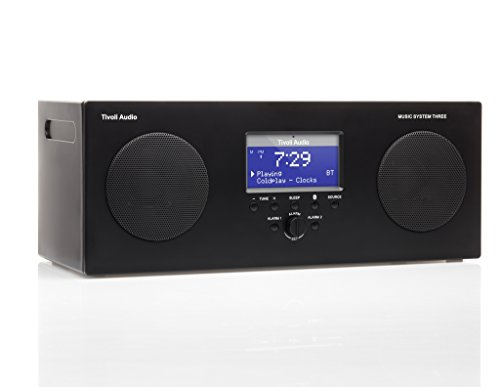 Tivoli Audio Music System Three Portable Hi-Fi System (Black)