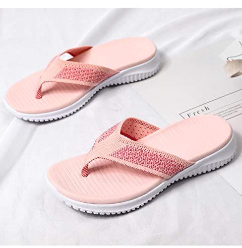 LNLJ Pantuflas de calaveras de moda, hombres y mujeres, sandalias de playa de fondo grueso y pantuflas de color carne_42-43
