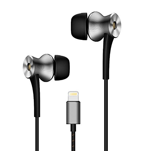 1MORE E1004 Dual-Driver Kopfhörer In-Ear Aktive Geräuschunterdrückung Ohrhörer mit Mikrofon und Fernbedienung Lightning für iPhone iPad iPod