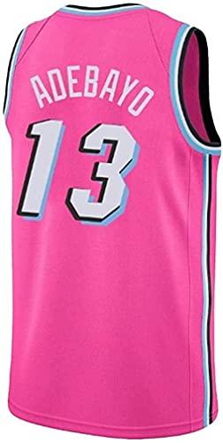 Heren- en damesvest - Heat 13# Adebayo-vest Ademend geborduurd basketbal Swingman-vest (kleur: 2, maat: XXX-Large)