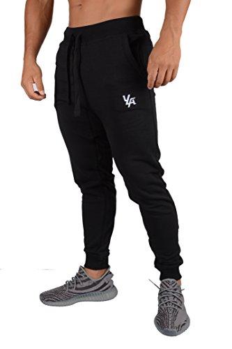 YoungLA Joggers Pants Men Athletic Sweatpants Gym Slim Fit 216 Bk XL Black