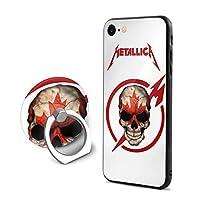 メタリカ カナダフラグスカル Metallica IPhone8ケース IPhone7ケース アイフォン7/8カバー 円型リングホルダー付き スマホリング付き 携帯ケース 耐衝撃ケース 超軽量 塵・キズ・落下防止 高耐久ケース ソフト 滑り止め 高級感 流行 メンズ レディース