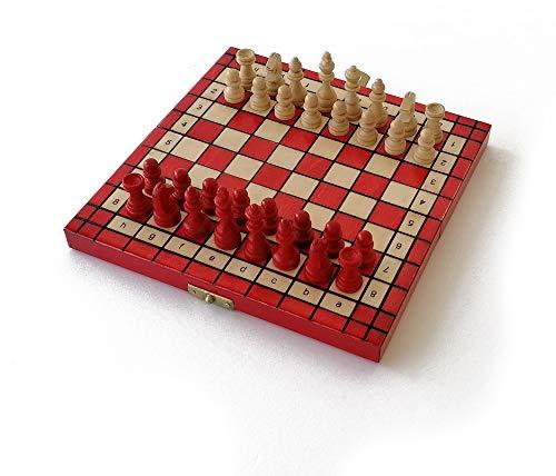 LEDELIRANT - Juego de ajedrez M – Mini. Tamaño 20 x...